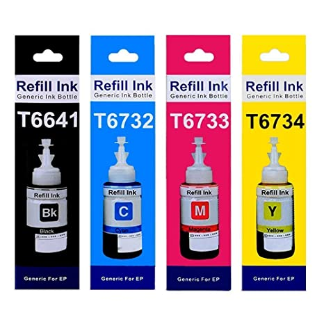 Flowjet Refill Ink Bottles for Epson T664 L- Series (75ml) Ink Cartridges at amazon