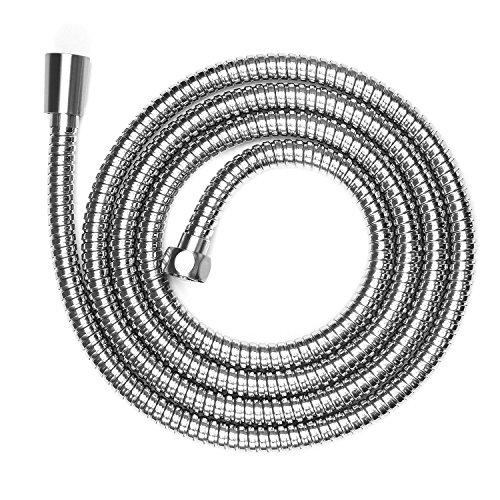 Shower Hose Fivanus 82 Inch 304 Stainless Steel Handheld Shower Hose With Brass Coupler Brushed Nickel