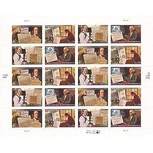 Ben Franklin Sheet 20 Mint US Postage 39c Stamps 4021-24