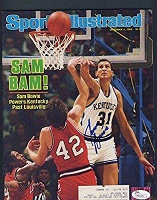 Sam Bowie University of Kentucky Signed Sports Illustrated M85425 126055 - JSA Certified - Autographed College Magazines