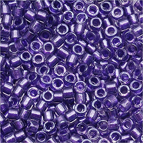Miyuki Delica Seed Beads 11/0 Sparkle Purple Lined Crystal DB906 8 ()