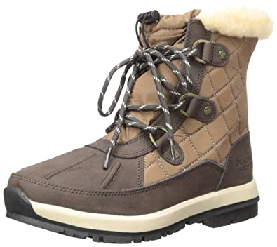 Bearpaw Womens Bethany: Waterproof 6 In. Snow Boot (Chocolate/Khaki, 5