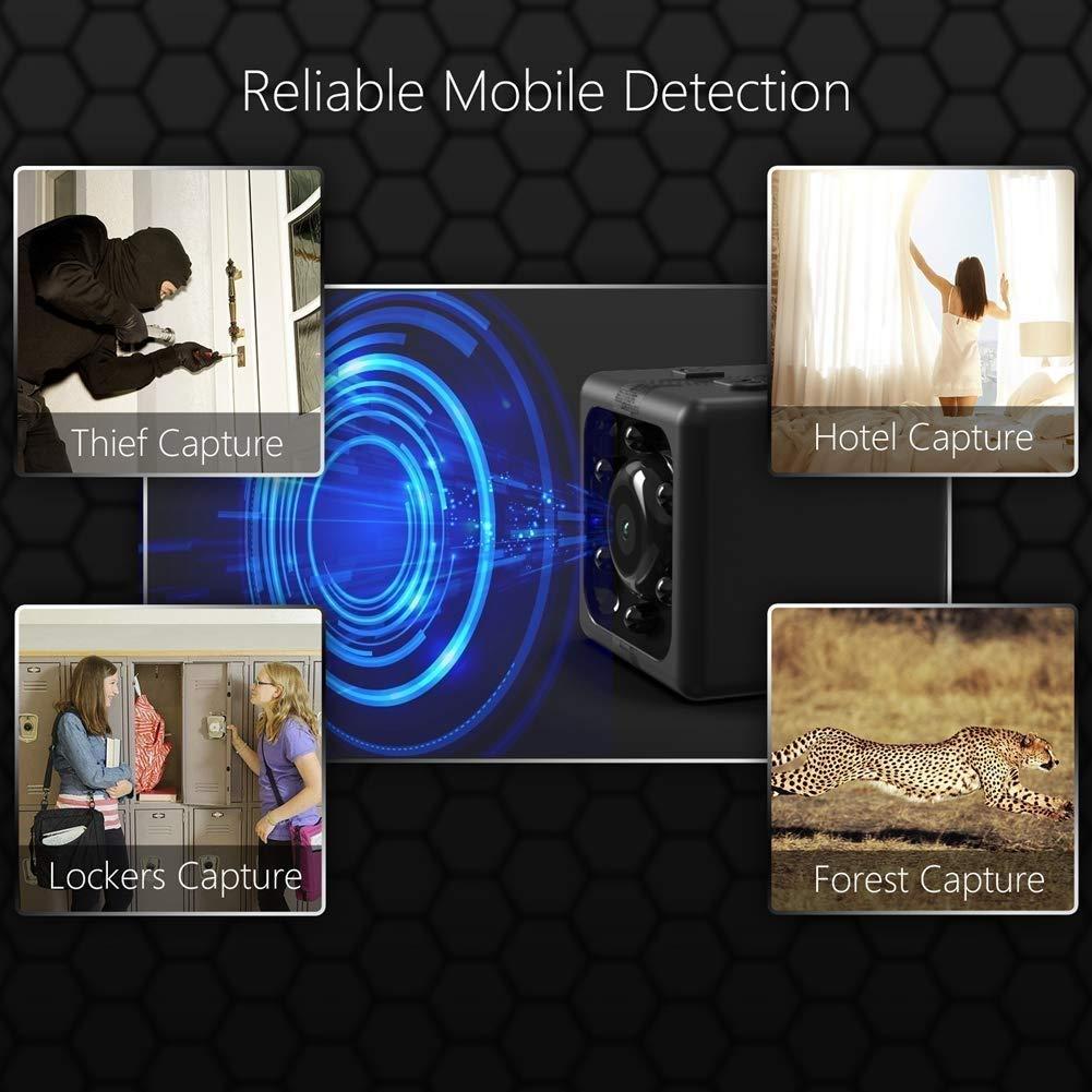 RMXMY Cámara Oculta, Movimiento Activado, Nuevo Modelo, grabación de 32GB incorporada en Memoria y Bucle, cámara espía con visión Nocturna HD con visión ...