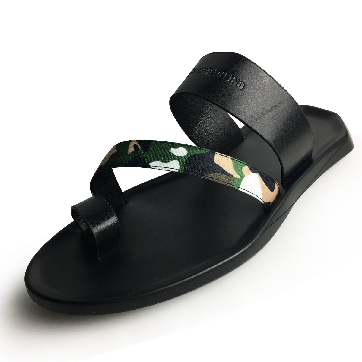 URBANFIND Men's Beach Wedding Flip Flops Vintage PU Leather Thong Slides Sandals Casual Summer Mules Clogs Shoes FKX006