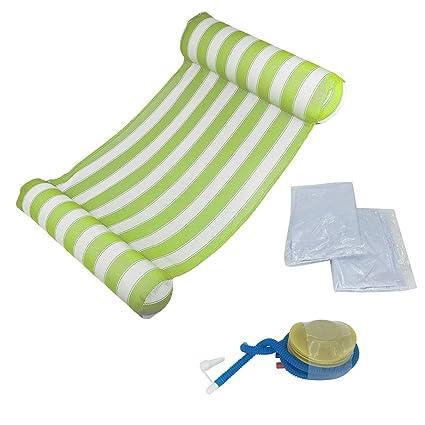 Tumbona de agua cómoda, portátil, piscina, aire ligero ...
