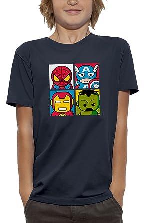 PIXEL EVOLUTION Camiseta 3D 4 Super Heroes en Realidad Aumentada Niño: Amazon.es: Ropa y accesorios