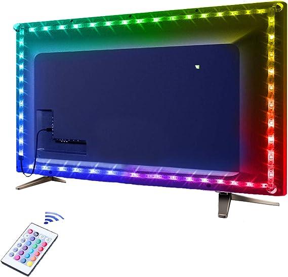 TV Ambiente Beleuchtung mit USB-Anschluss 50-200cm RGB LED Lichtleiste Stripe