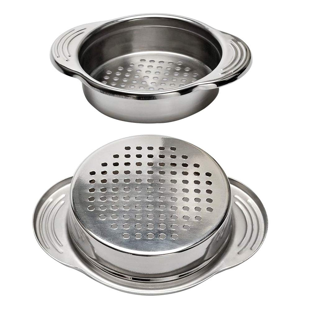 DayCount 2-Pack Stainless Steel Food Can Drainer Strainer, Sieve Tuna Can Oil Press Tuna Can Oil Squeezer Oil Drainer Can Opener, Can strainer Kitchen Tools