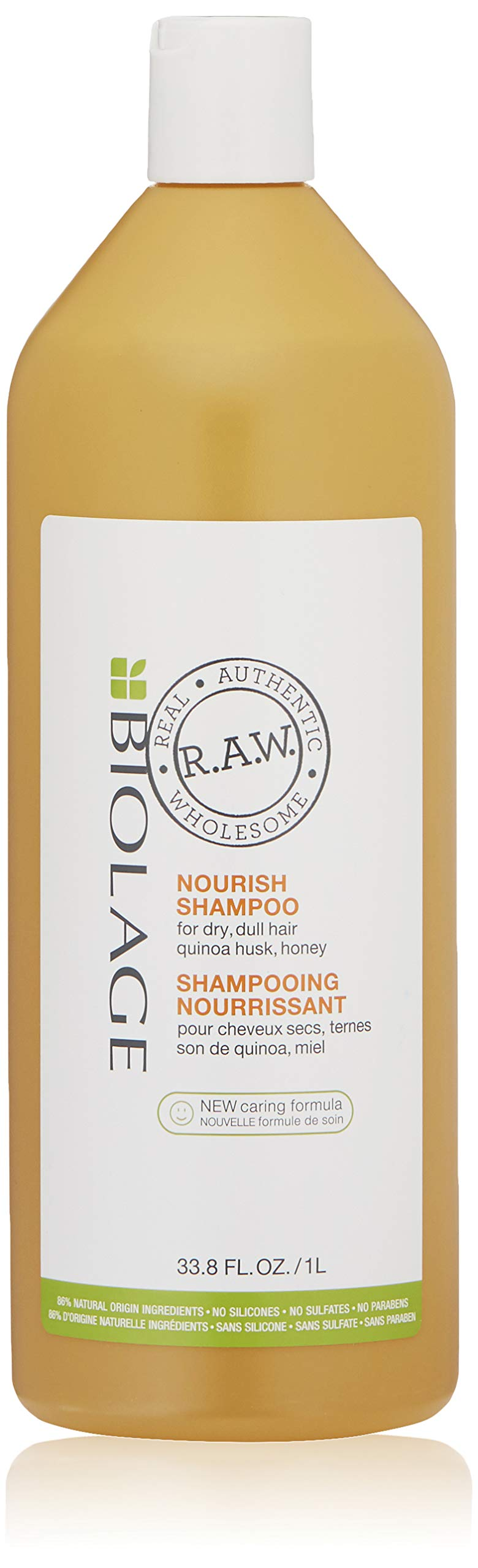 Biolage R.A.W. Nourish Shampoo for Dry, Sulfate Free, Dull Hair with Quinoa Husk and Honey, Sulfate Free, 33.8 fl. oz. by BIOLAGE