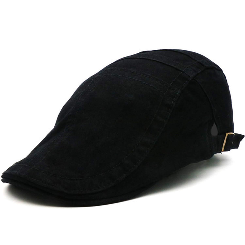 UKURO Men Women British Style Army Green Cabbie Hats Newsboy Cap Irish Flat Caps
