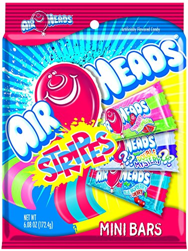 (AirHeads Mini Striped Bars Variety Pack, Party, 6.08)