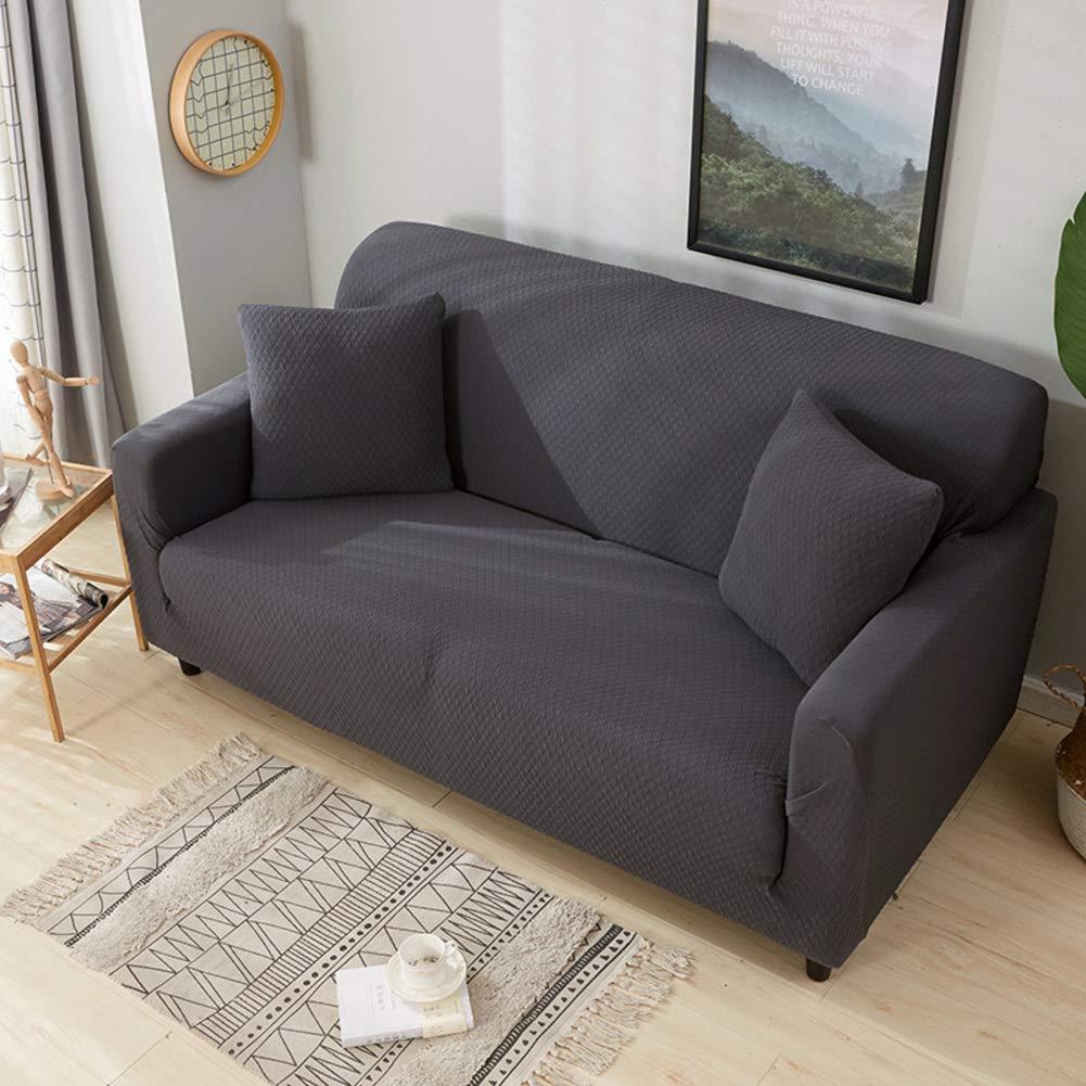 YUNJIE Sofabezug, 1 Stück, 100% wasserdicht, Sofabezug, einfarbig, für Hunde und Kinder, Microfaser, C, Double-Person Sofa