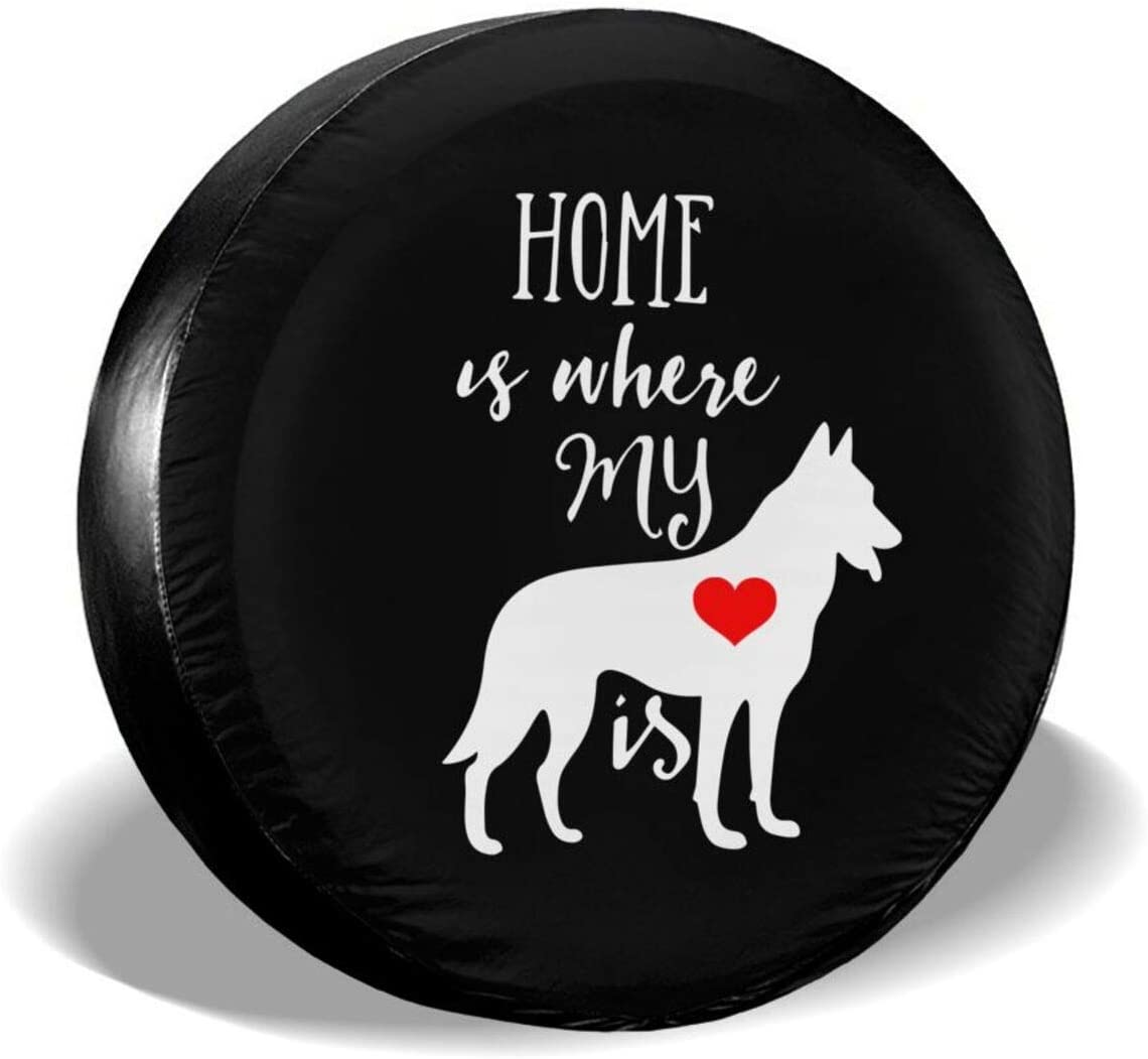 DPT3LTT Home is Where My Dog is Spare Tire Cover for Jeep Trailer RV ect