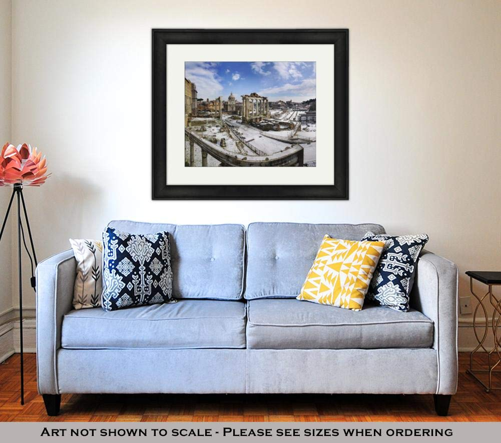 Amazon.com: Ashley Framed Prints Snow On Foro Romano, Wall ...