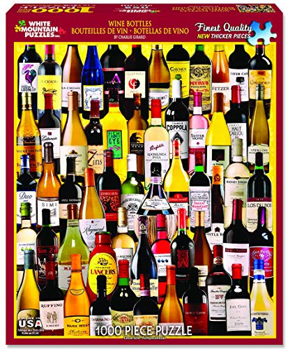 White Mountain Puzzles - Classic Wine Bottles - 1,000 Piece Jigsaw Puzzle