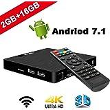 Android 7.1 Smart TV Box - SEEKOOL Model T Android TV Box con 2GB RAM 16GB ROM, 4K UHD, Amlogic S905W Quad Core 64bit CPU, HDMI & AV Salida, 2 Puerto USB, WiFi LAN Android TV Player