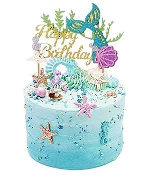 Glitzer Meerjungfrau Kuchen Dekoration Happy Birthday Kuchen