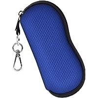 Fintie Glasses Case with Carabiner, Ultra Light Portable Neoprene Zipper Sunglasses Soft Case