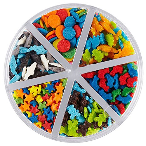 (Wilton 2.4oz Bright Animals & Stars Sprinkles - Cupcake Cookie Food Decoration)