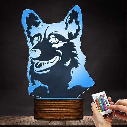 Amazon com: The Geeky Days Corgi Dog LED Night Light 3D