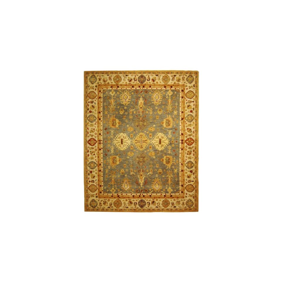 Safavieh Anatolia Collection AN547A Handmade Traditional Oriental Blue and Ivory Wool Area Rug (8 x 10)