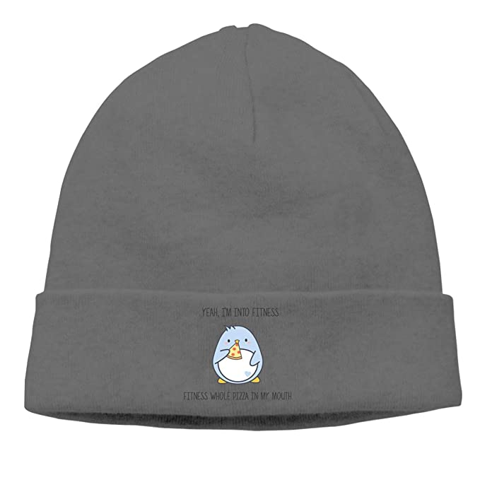 Lazy Cat and Pizza Winter Beanie Hat Knit Skull Cap for for Men /& Women