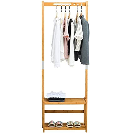 Amazon NNEWVANTE Coat Rack Bench Shoes Rack Hallway Hall Tree Best Hallway Coat Racks