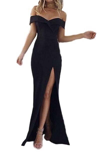 7236a9b87 Vemubapis La Mujer Elegante Strapless Off Shoulder Backless Vestido  Monocolor Corte Largo  Amazon.es  Ropa y accesorios