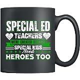 Teachers Mug Ceramic - Special Ed Teachers Coffee Mug, Tea Cup Black 11Oz, Best Gifts For Friends (Black)