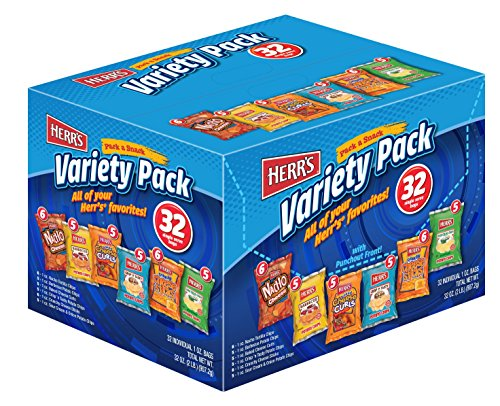 Herrs Variety Snack Pack Ounce product image