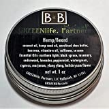 Hemp Balm - Beard - 1 ounce - 10 Therapeutic Grade Essential Oils for promoting growth