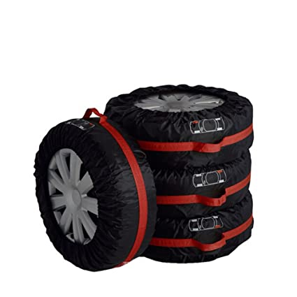 Tire Tote Cover Foldable Portable Spare Tire Protection Covers Tyre Storage Bags Wheel Cover for Car Off Road Truck 66cm//26in 80cm//31in Diameter HZC04 80cm // 31
