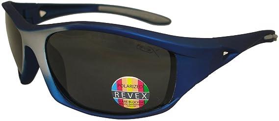 REVEX bloqueo de deslumbramiento gafas de sol polarizadas Pesca Deportes Wrap Gafas de sol 100% UV Azul rev726: Amazon.es: Ropa y accesorios