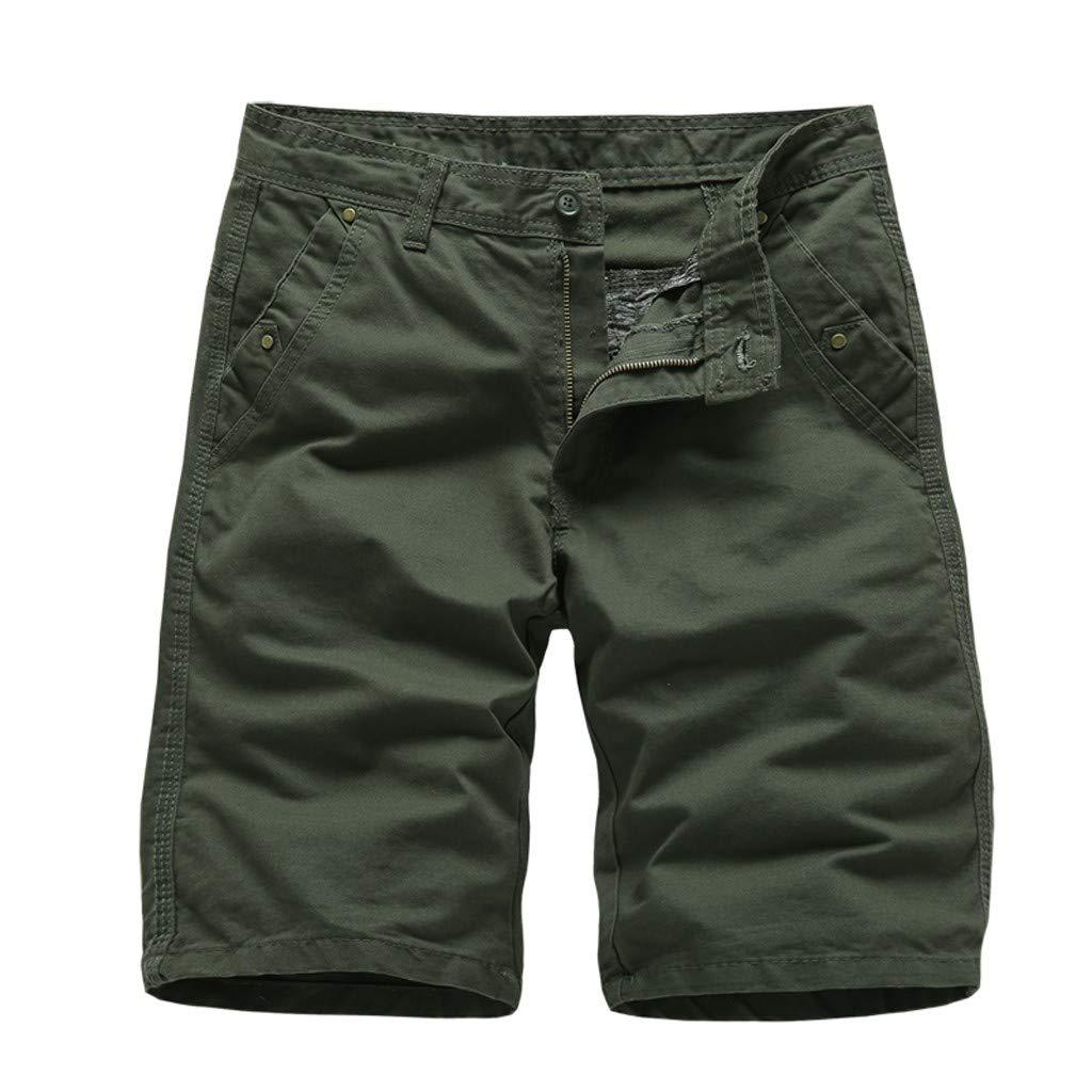 Donci Pants Men Casual Elastic Waist Breathable Drawstring Lattice Beach by Donci Pants