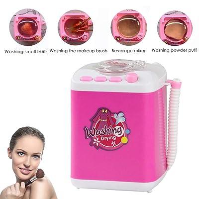 CHUANGE Belleza Blender Lavadora Maquillaje Cepillo Esponja Mini Dispositivo de Limpieza Limpieza automática Lavadora Herramientas Mini Juguete: Juguetes y juegos