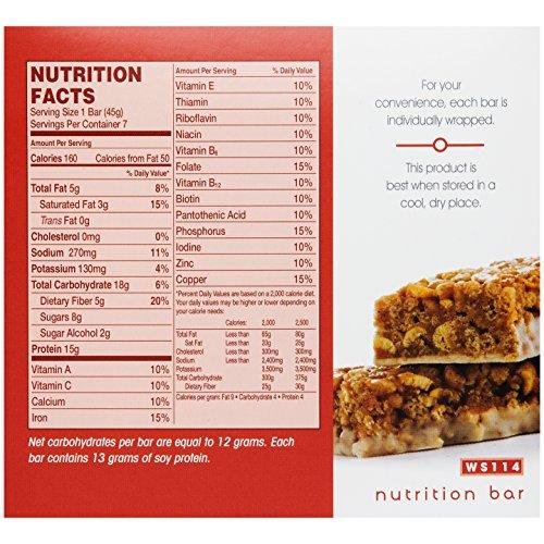 WonderSlim High Protein Meal Replacement Bar - High Fiber, Kosher, Crispy Cinnamon (7 Count) by WonderSlim (Image #1)