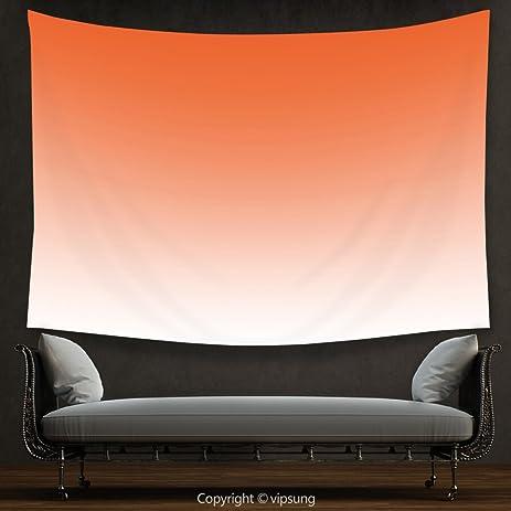 House Decor Tapestry Ombre Sunset In The Hot Desert Inspired Dusk Orange Digital Design Print