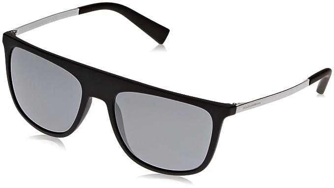 fbdd2cea3c Dolce & Gabbana 0Dg6107 Gafas de sol, Black Rubber, 55 para Hombre ...