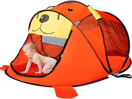 KIKTS Tienda Campaña Bebe Playa, Carpa Plegable Playhouse, Game Toy Cartoon Tiger Carpa O Niños Niñas Bebés Y Niños Pequeños Uso Al Aire Libre En Interiores,Orange: Amazon.es: Deportes y aire libre