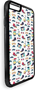 Decalac Printed Case for iPhone 8 Plus, Nice Icons, Multi Color
