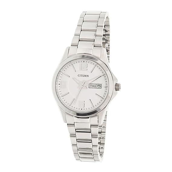 CITIZEN EQ0591-56A. Reloj de mujer, de cuarzo, con caja y brazalete de acero, y cristal mineral.: Amazon.es: Relojes