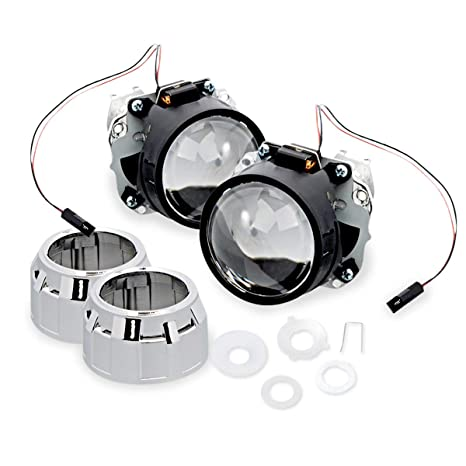 Amazon Com Zone Tech 2 5 Mini Hid Bixenon Projector Lens 2 Sets