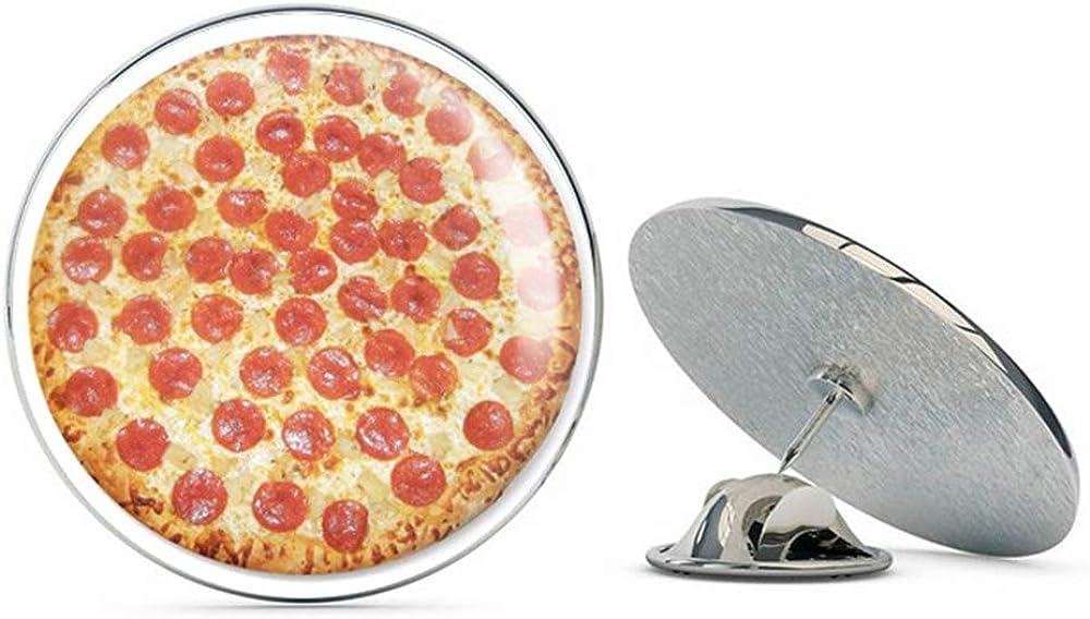 BRK Studio Pepperoni Pizza Delicious Food Round Metal 0.75