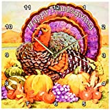 3dRose dpp_3206_2 Happy Thanksgiving Wall Clock, 13 by 13-Inch Review