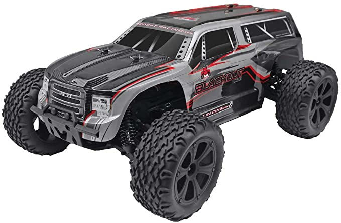 1//10 Scale Silver//Red Redcat Racing Truck Body