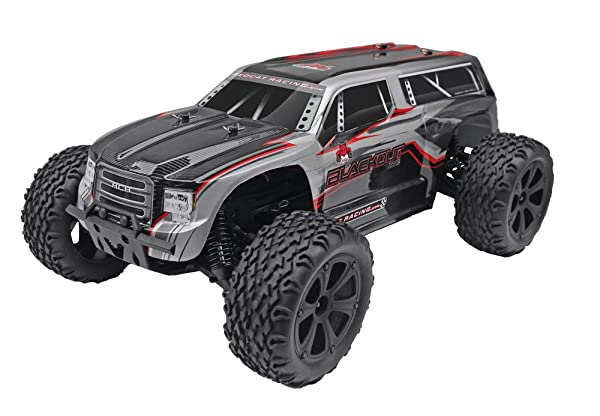 Blackout XTE 1/10 Scale Electric Monster Truck (Color: Silver/Red)
