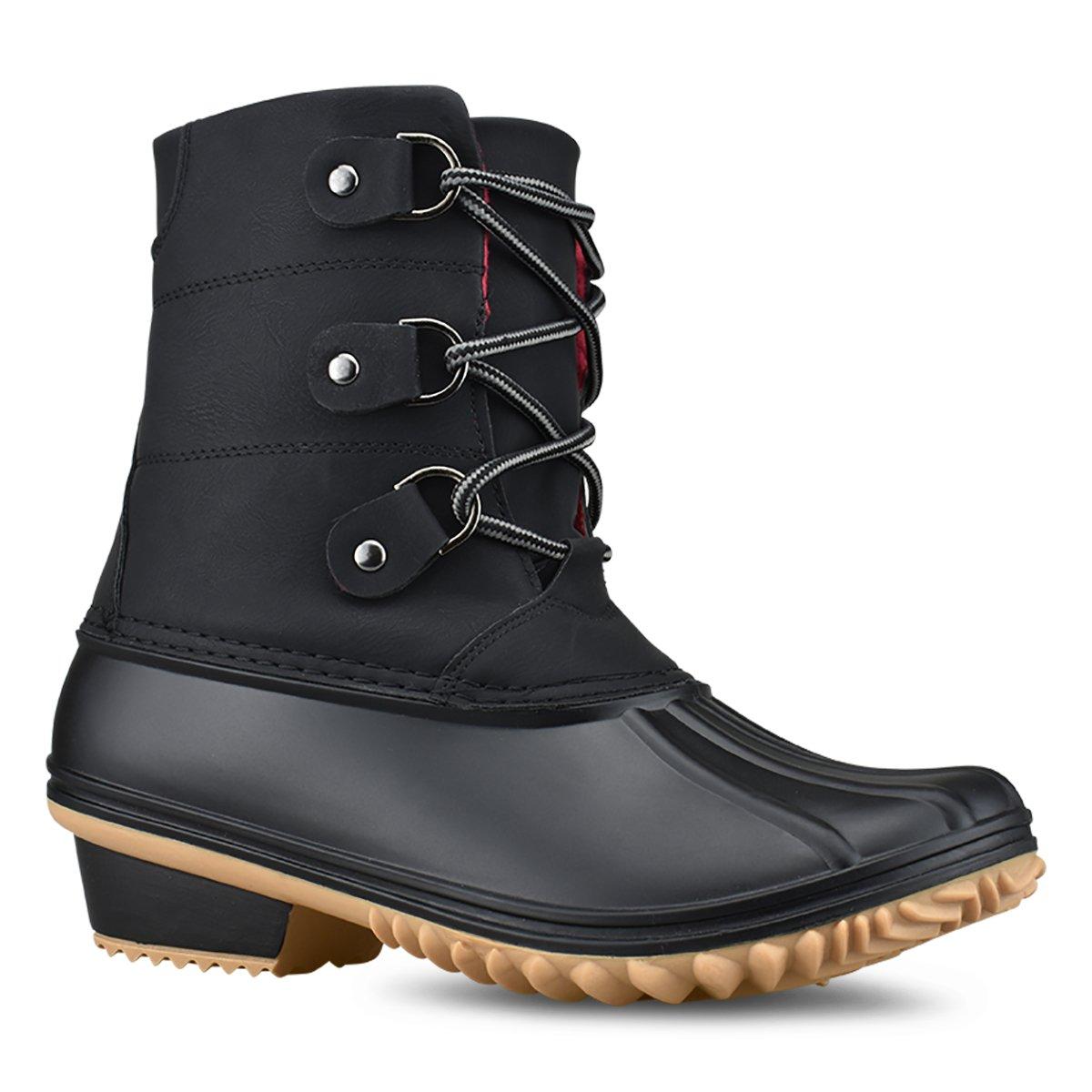 Premier Standard Women Stitching Lace Up Side Zip Waterproof Insulated Snow Boots B07974XS8V 8.5 B(M) US|Premium Black