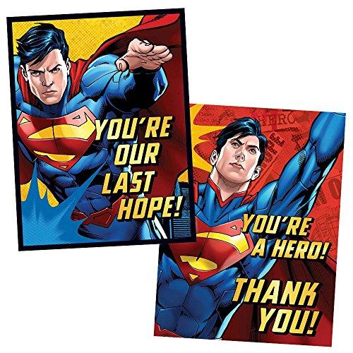 Superman Invitations & Thank You Cards Combo (8 (Superman Invitations)