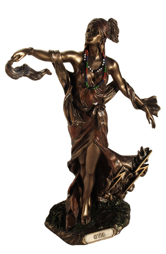 OYA - Goddess of Wind, Storm and Transformation Figurine, Bronze Color