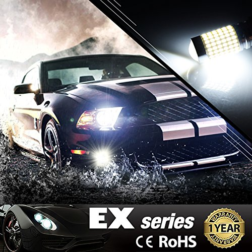 JDM-ASTAR-1200-Lumens-Extremely-Bright-144-EX-Chipsets-H10-9140-9145-LED-Fog-Light-Bulbs-with-Projector-for-DRL-or-Fog-Lights-Xenon-White